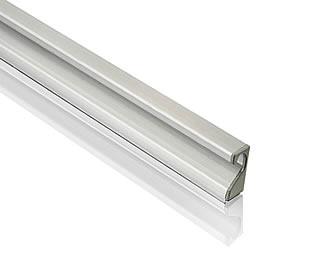 Acessórios - Puxador de perfil escovado c/ ponteiras cromadas